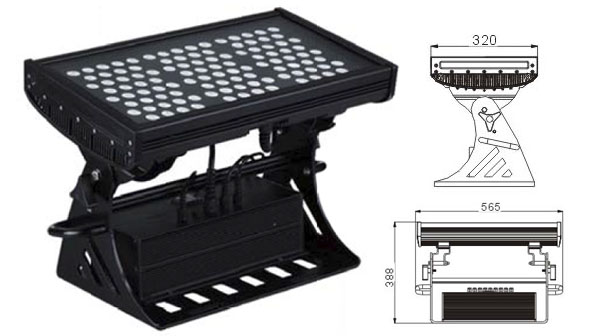 قاد مصنع تشونغشان,مصباح الجدار LED الجدار,500W مربع IP65 RGB LED ضوء الفيضانات 1, LWW-10-108P, KARNAR INTERNATIONAL GROUP LTD