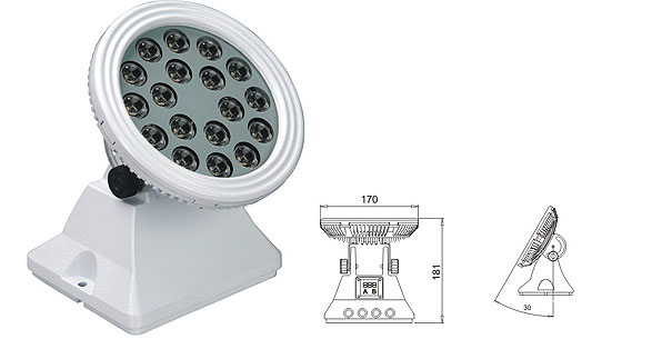 Led drita dmx,LED dritat e përmbytjes,25W 48W Sheshi me rondele mur LED 1, LWW-6-18P, KARNAR INTERNATIONAL GROUP LTD