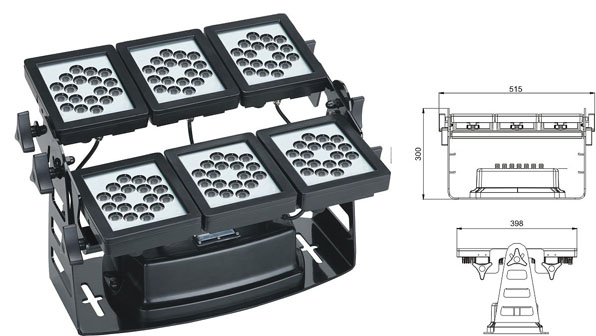 Led drita dmx,Drita e rondele e dritës LED,Rondele mur 220W Square LED 1, LWW-9-108P, KARNAR INTERNATIONAL GROUP LTD